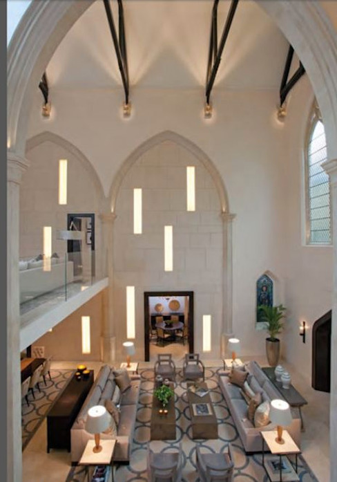 A House in St Saviours Church, Knightsbridge, London:  Living room by 4D Studio Architects and Interior Designers, Modern