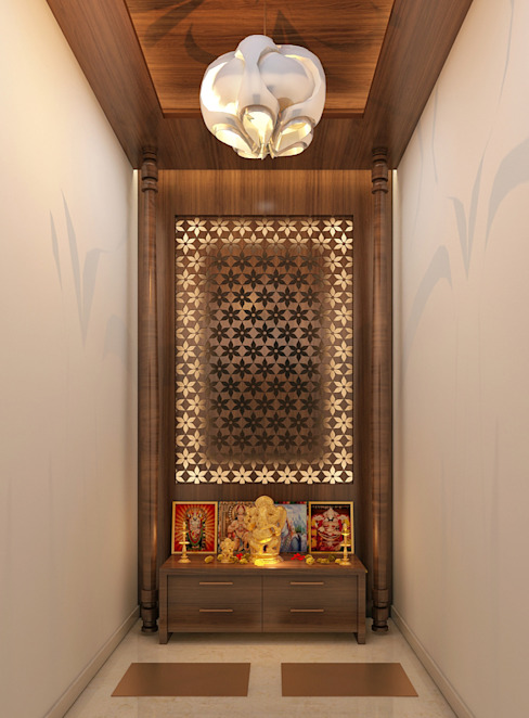 How To Install A Pooja Room In A Small Apartment Homify Homify