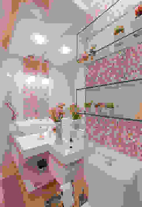 Gleide Belfort interiores Bagno in stile classico Rosa