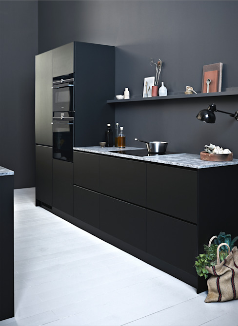 Prato Black Scandinavische keukens van Kvik Keuken, Badkamer & Garderobe Scandinavisch