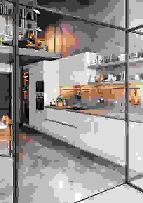 Crystal Blanco y Aguamarina de TPC Instalación de cocinas en Parets del Vallès Moderno