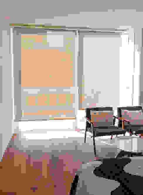 Las persianas funcionales de INVELO Moderno Textil Ámbar/Dorado