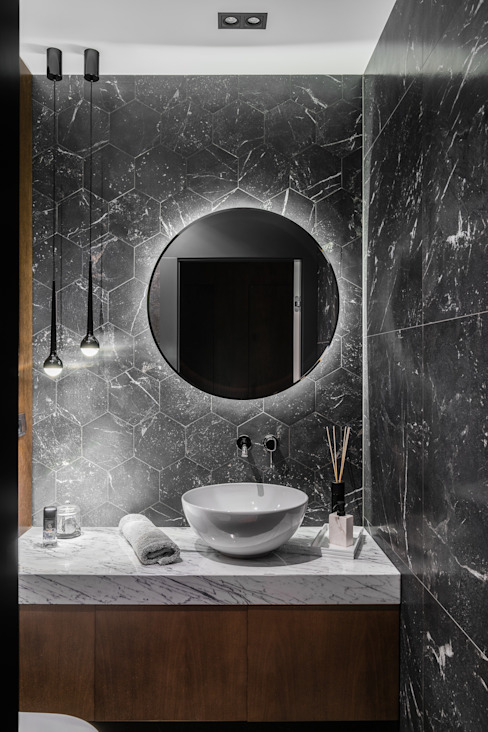 Anna Serafin Architektura Wnętrz:  tarz Banyo, Modern