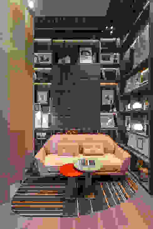 Casa FOA 2018 Livings modernos: Ideas, imágenes y decoración de Estudio Viviana Melamed Moderno Madera maciza Multicolor