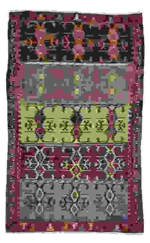 Decorative Vintage Konya Kilim Rug Heritage Nomadic Art Gallery İç Dekorasyon Yün Mor