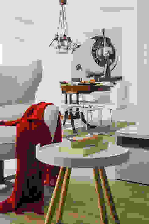 Remodelação total apartamento na Costa da Guia, Cascais Salas de estar modernas por ARQ1to1 - Arquitectura, Interiores e Decoração Moderno
