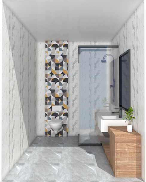 SKY İç Mimarlık & Mimarlık Tasarım Stüdyosu Phòng tắm phong cách hiện đại