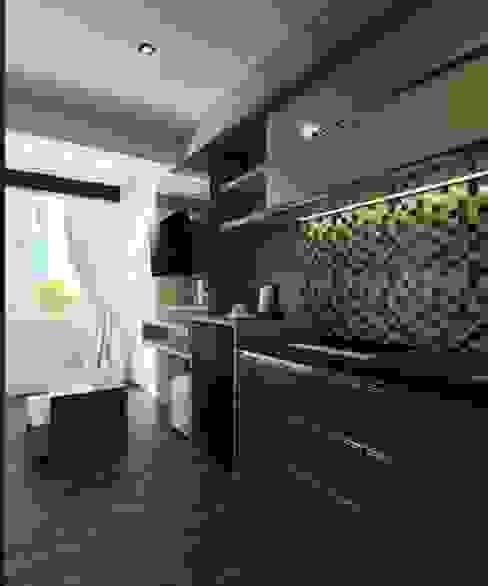 Apartemen The Jarrdin Bandung Maxx Details Dapur Modern