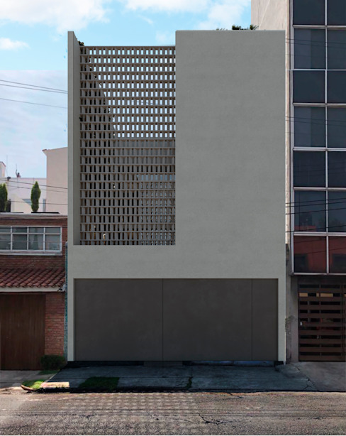 fachada exterior TW/A Architectural Group Single family home Concrete White