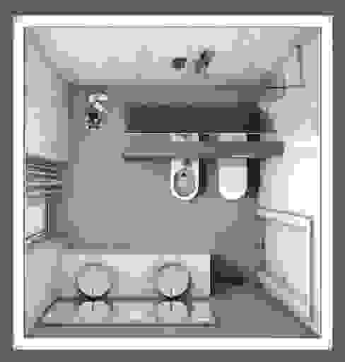 bagno elegante, disposizione degli spazi Fratelli Pellizzari spa Bagno in stile classico Piastrelle