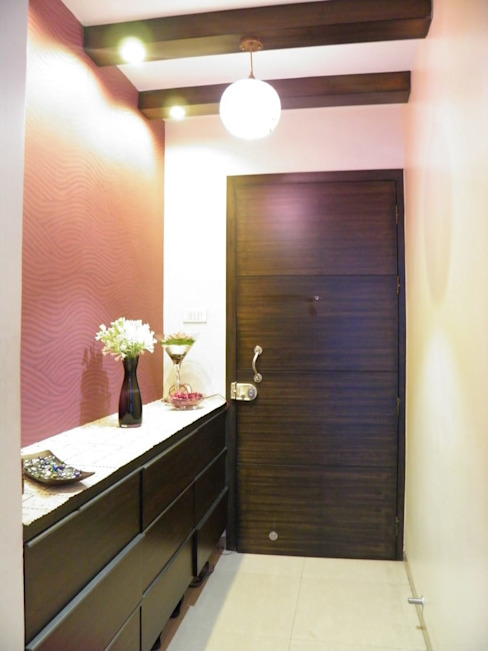 Full Home Interior Lonavala ECLECTIC INTERIORS AND SERVICES Eclectic style corridor, hallway & stairs
