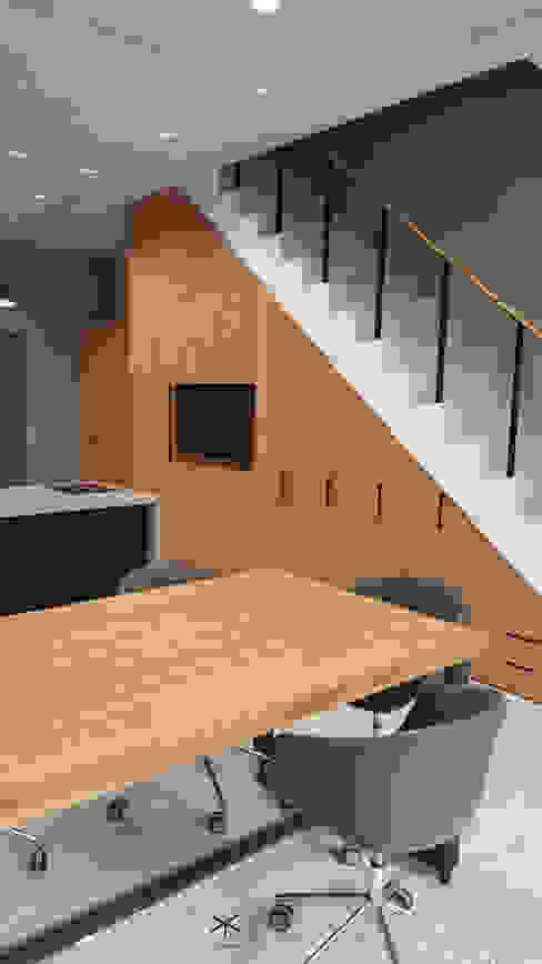 老舊辦公室變身極簡現代風 XY DESIGN - XY 設計 書房/辦公室儲藏櫃