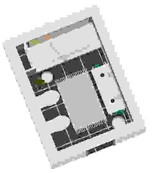 Planta 2D WC Suite Banheiros clássicos por SweetYellow Clássico Madeira Efeito de madeira