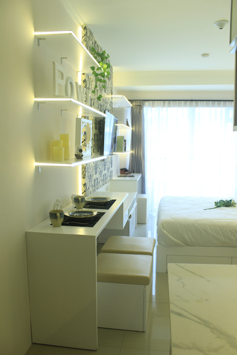 Gateway Diamond Apartemen:  oleh POWL Studio, Tropis