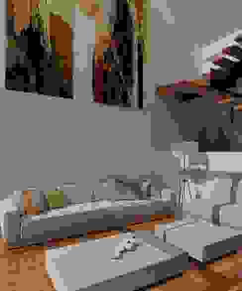 Casa Agave MT-GI STRATEGIC SERVICES Salones minimalistas Madera Blanco