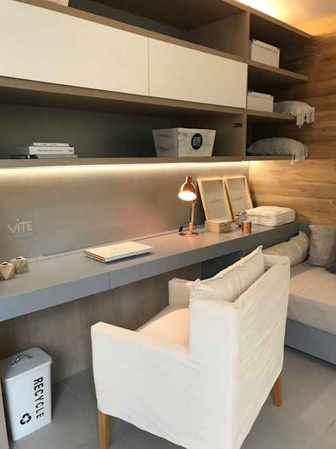 Monoambiente Dormitorios minimalistas de Modulus Minimalista