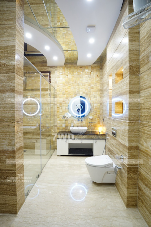Interior Designers in Gurgoan:  Bathroom by 7WD Interior Design Studio,