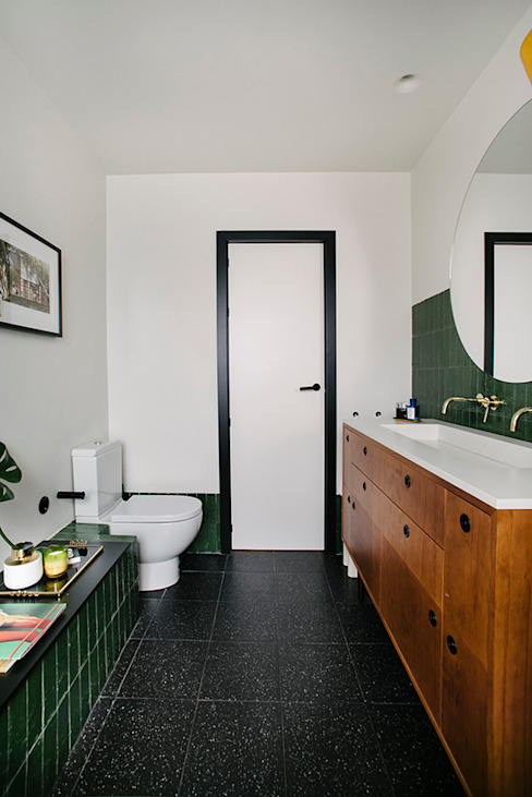 BAÑO PRINCIPAL nimú equipo de diseño Baños de estilo ecléctico Azulejos Verde