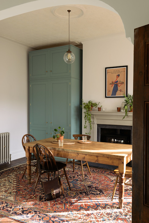 An Edwardian Villa in Cardiff deVOL Kitchens مطبخ Blue