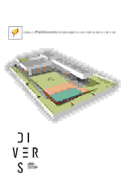 Vista general Divers Arquitectura, especialistas en Passivhaus en Sabadell Jardines delanteros