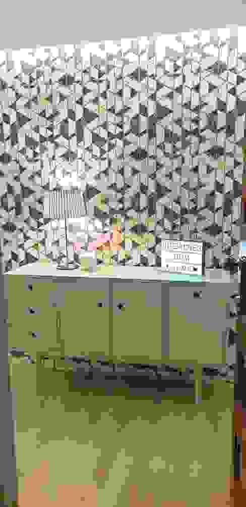 Alma Braguesa Furniture Eclectic style corridor, hallway & stairs MDF Green