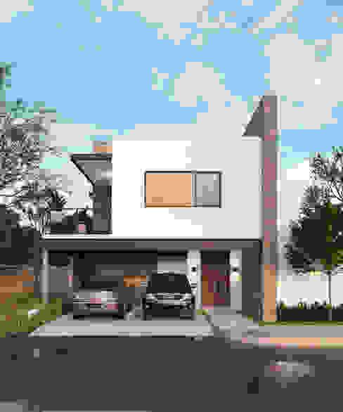 Casas en fraccionamiento Real del Nogalar (en construcci´ón) Casas modernas de VillaSi Construcciones Moderno