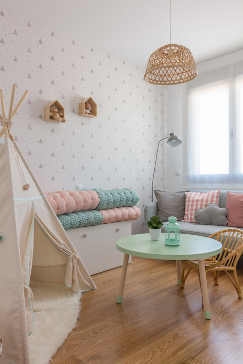 LOS RINCONES DE CARLA KELE voy a hacer Dormitorios infantiles de estilo escandinavo