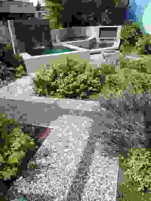 Kleiner Garten mit Wasserbecken Neues Gartendesign by Wentzel Moderner Garten