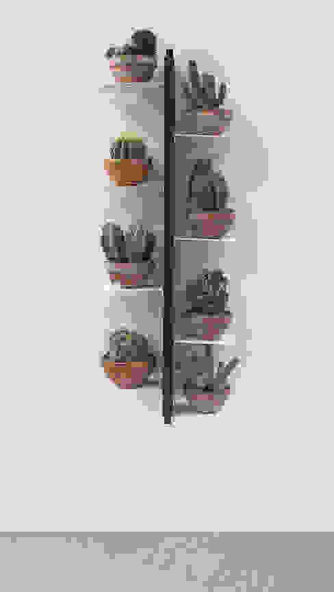 Porta piante a muro Zia Flora h 105 di Le zie di Milano Minimalista Legno massello Variopinto