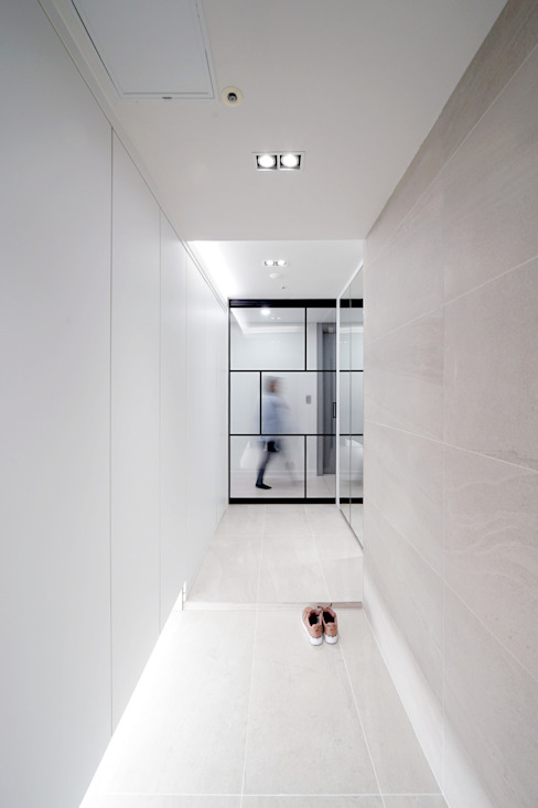 디자인 아버 Modern Corridor, Hallway and Staircase