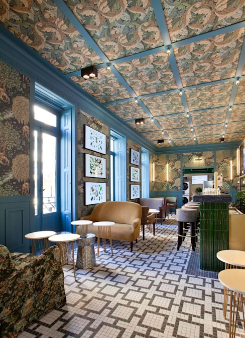 Club 3 Guille Garcia-Hoz, interiorismo y reformas en Madrid Bares y Clubs Azulejos Multicolor
