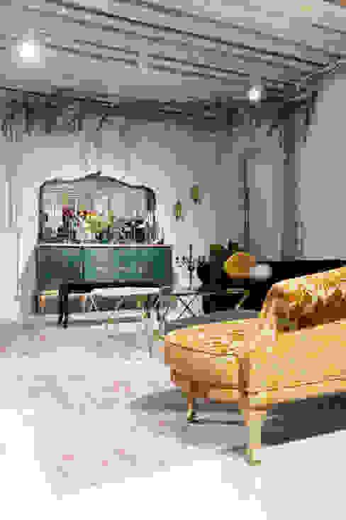 Zona de atelier Oficinas y tiendas de estilo ecléctico de Interioristas Dimeic, diseñadores y decoradores en Madrid Ecléctico