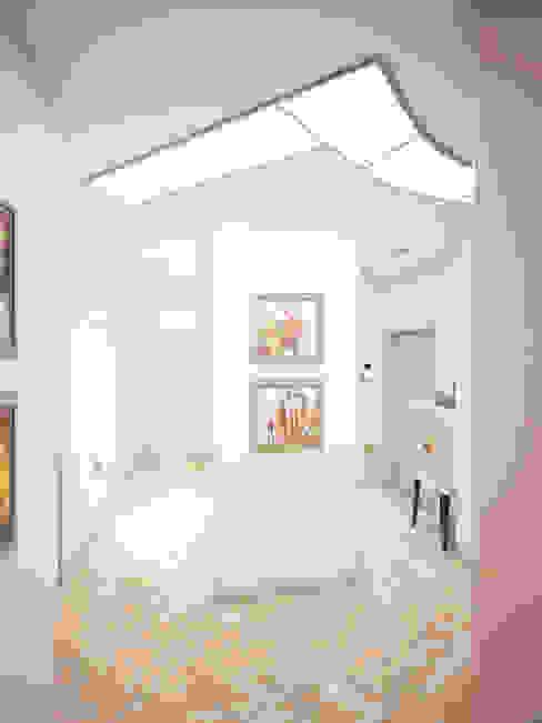 Квартира 88,4 кв в Москве. Дизайнеры Андрей и Екатерина Андреевы. Коридор, прихожая и лестница в модерн стиле от Андреевы.РФ Модерн