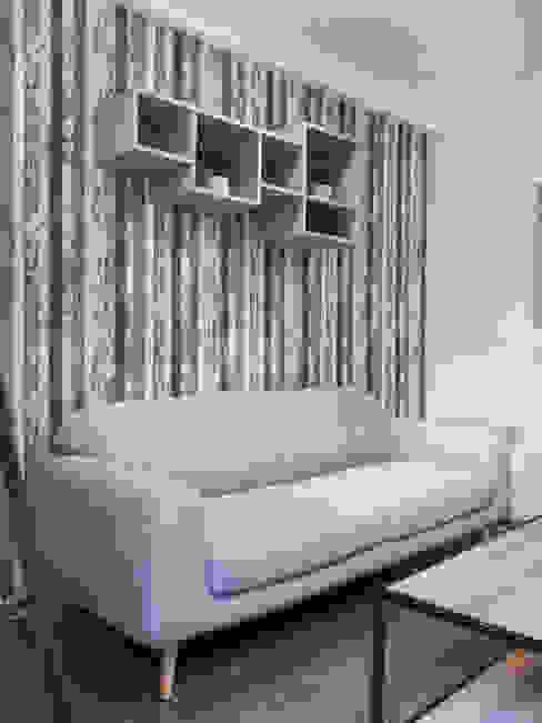 Estar minimalista: Livings de estilo  por Estudio Arquitectura y construccion PR/ Arquitectura, Construccion y Diseño de interiores / Santiago, Rancagua y Viña del mar