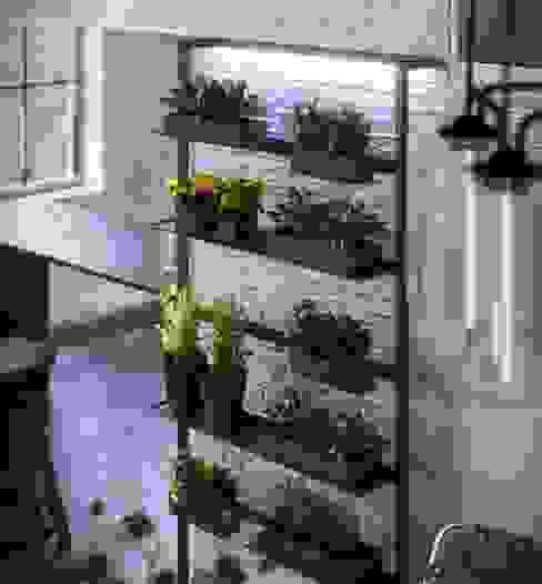Damiano Latini srl Minimalist kitchen Aluminium/Zinc Black