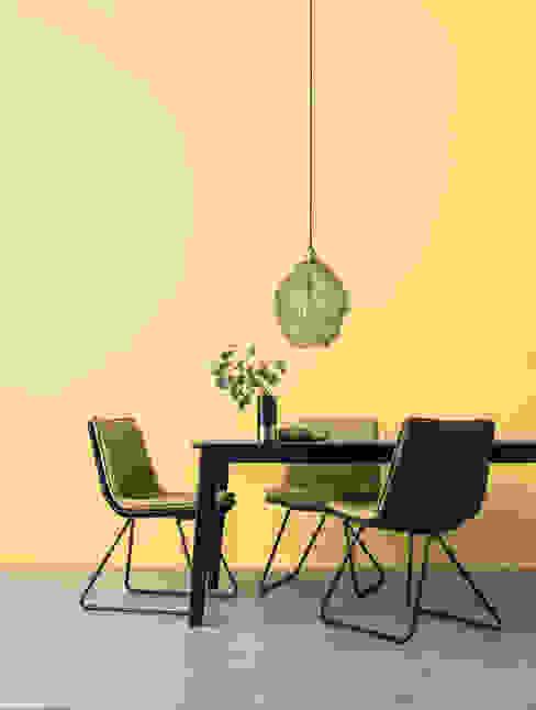 SCHÖNER WOHNEN-FARBE Salas de jantar modernas Amarelo