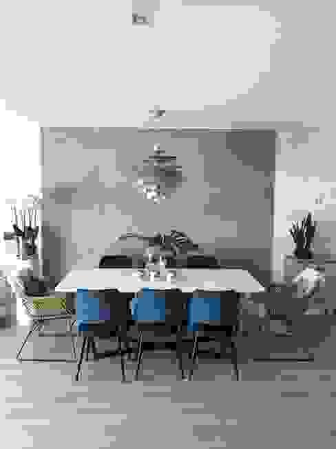 mesa de comedor. Salones de estilo moderno de Decorando tu espacio - interiorismo y reforma integral en Madrid. Moderno