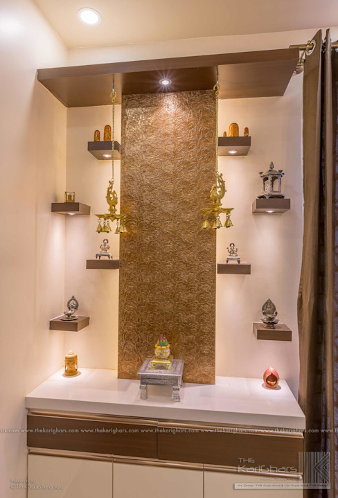 Pooja Room Designs Classic style corridor, hallway and stairs by The KariGhars Classic
