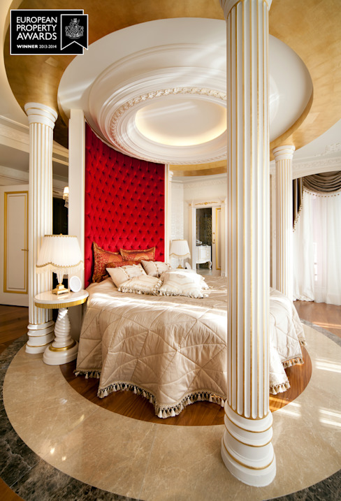 Master Bedroom - 2 / Bosphorus City Villa by Sia Moore Archıtecture Interıor Desıgn Classic Wood Wood effect