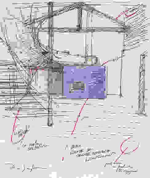 Studi preliminari: Soggiorno in stile  di Scaglione Workshop architettura e design,