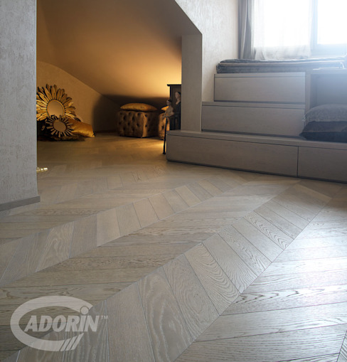 de Cadorin Group Srl - Italian craftsmanship Wood flooring and Coverings Ecléctico Madera Acabado en madera