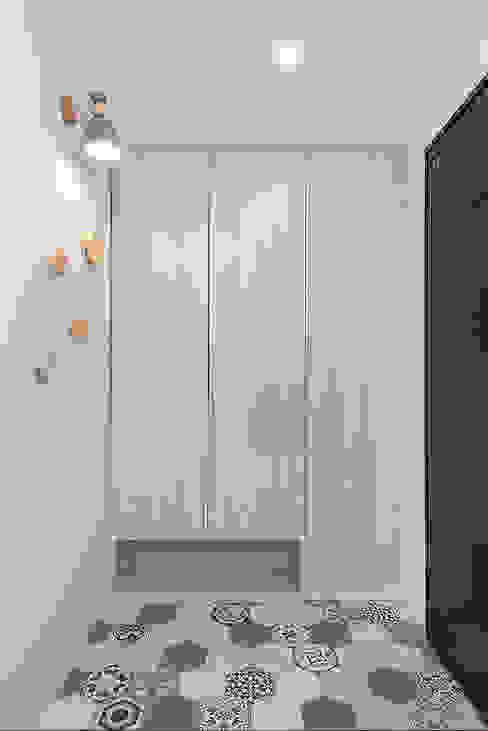 童趣 知域設計 斯堪的納維亞風格的走廊,走廊和樓梯