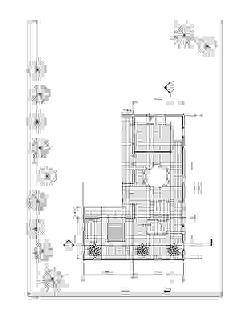 Planta 1° piso Casas de estilo mediterráneo de Constructora Alonso Spa Mediterráneo