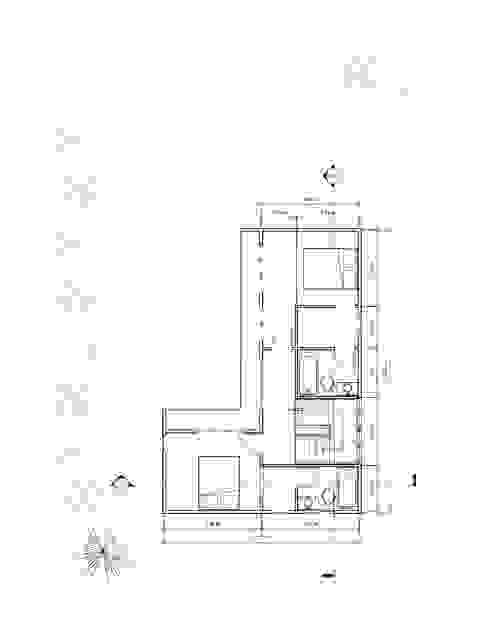 Planta 2° piso Casas de estilo mediterráneo de Constructora Alonso Spa Mediterráneo