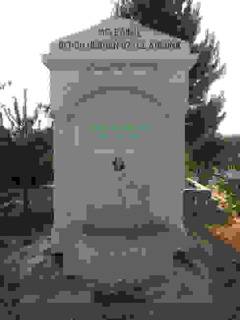 Taşcenter Acarlıoğlu Doğal Taş Dekorasyon – urfa taşı yarım sütunlu çeşme modeli: modern tarz , Modern