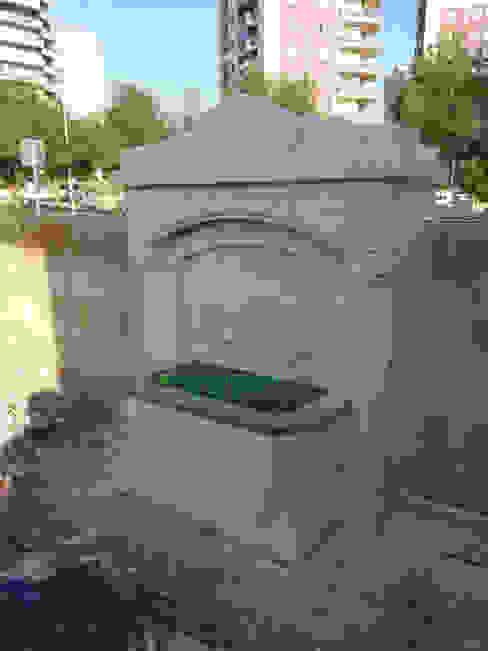 Taşcenter Acarlıoğlu Doğal Taş Dekorasyon – urfa taşı yarım sütunlu ikili çeşme: modern tarz , Modern