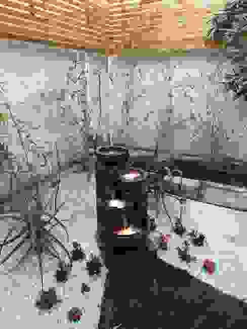 DESPUÉS - FUENTE - ILUMINACIÓN EXTERIOR Jardines de estilo minimalista de HZ ARQUITECTOS SANTIAGO DISEÑO COCINAS JARDINES PAISAJISMO REMODELACIONES OBRA Minimalista