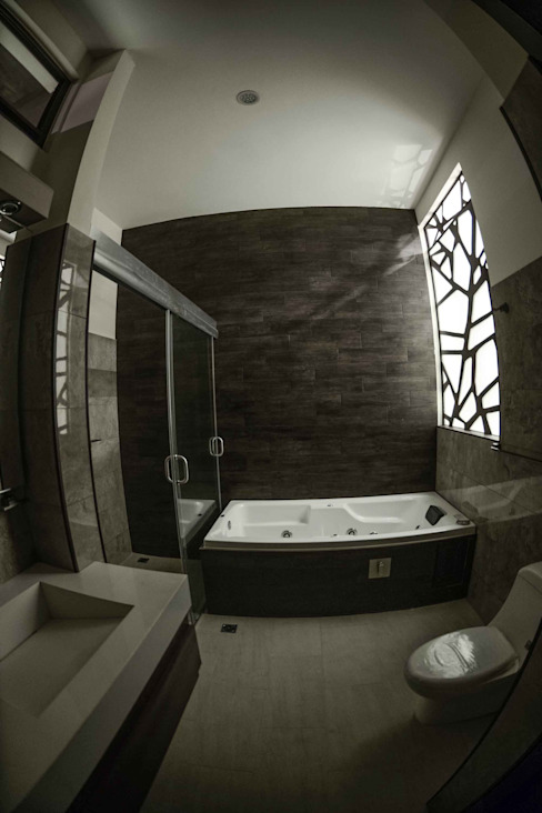 GRUPO WALL ARQUITECTURA Y DISEÑO SA DE CV Modern bathroom Granite Brown