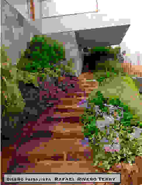 "Proyecto paisajista ""Casa jardín"". Club náutico Poseidon, Pucusana Lima Perú. Rafael Rivero Terry arquitecto paisajista Jardines eclécticos"