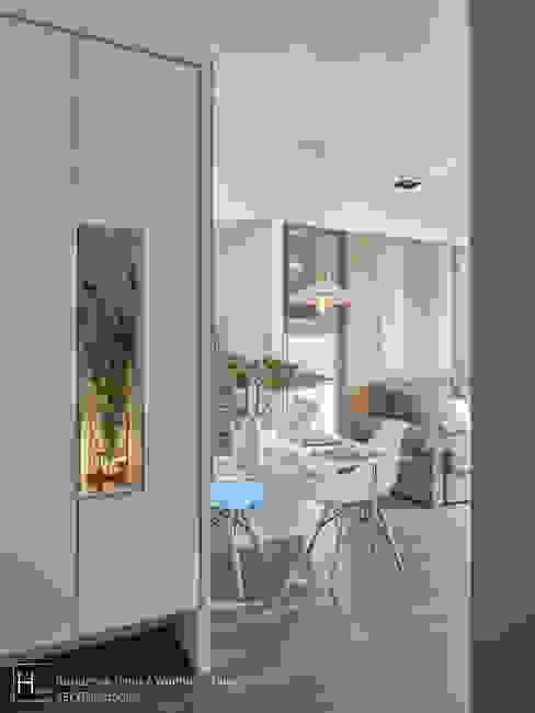 入口玄關處 現代風玄關、走廊與階梯 根據 SECONDstudio 現代風
